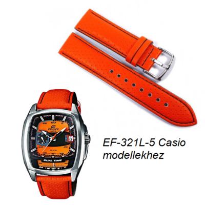 EF-321L-5 Casio narancssárga bőrszíj