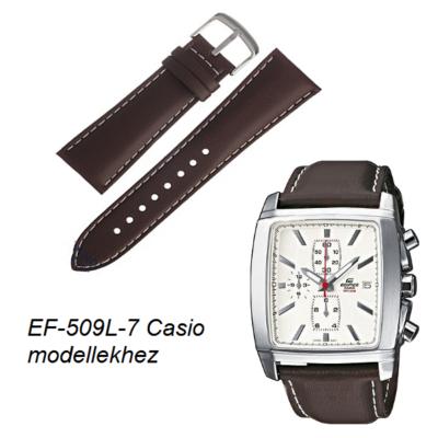 EF-509L-7 Casio barna bőrszíj