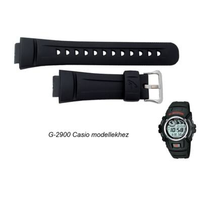G-2900 Casio fekete műanyag szíj