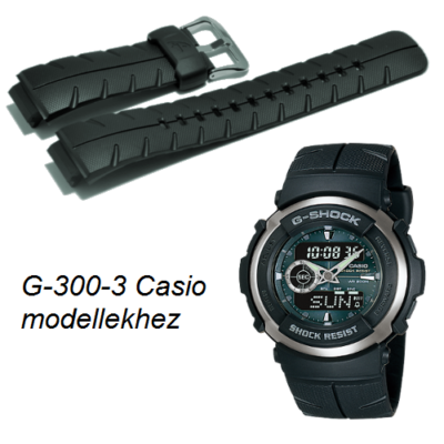 G-300-3 Casio zöld műanyag szíj