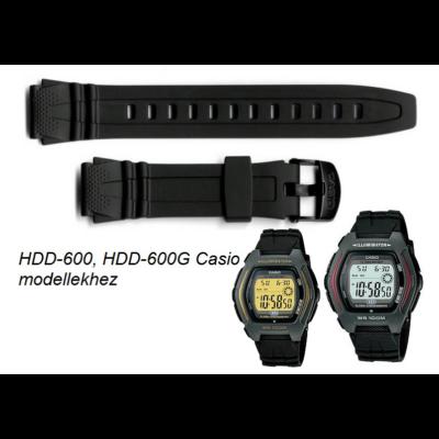 HDD-600 HDD-600G Casio fekete műanyag szíj