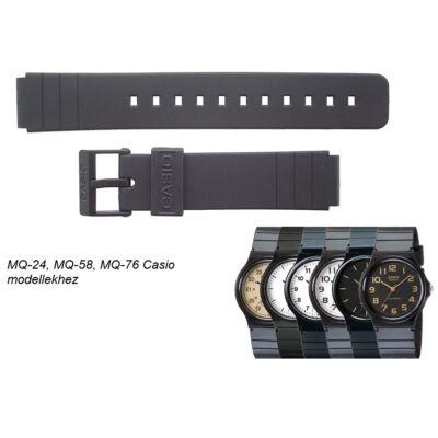 MQ-24 MQ-58 MQ-76 Casio fekete műanyag szíj