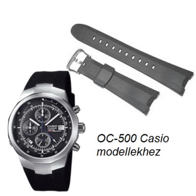 OC-500 Casio fekete műanyag szíj