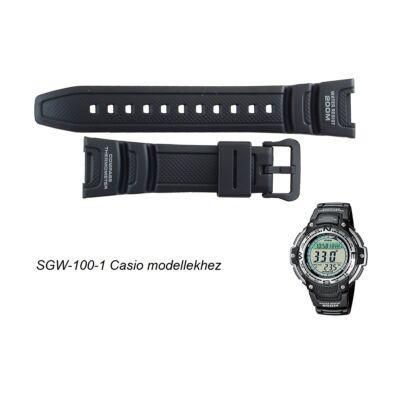 SGW-100-1 Casio fekete műanyag szíj