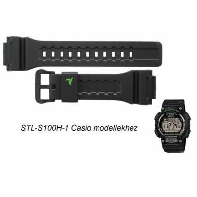 STL-S100H-1 Casio fekete műanyag szíj