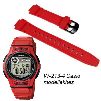 W-213-4 Casio piros műanyag óraszíj