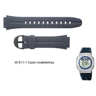 W-E11-1 Casio fekete műanyag szíj