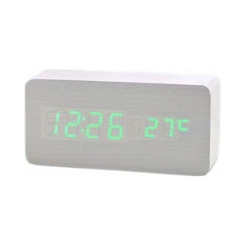 BCFEHZ-SA018 Digitális fehér fa asztali óra
