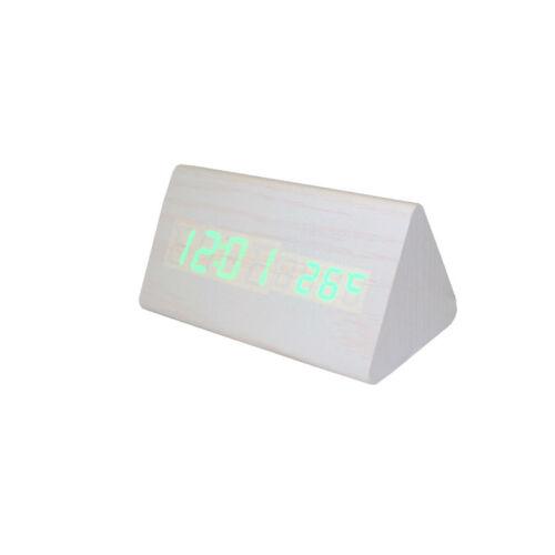 BCFEHZ-SA020 Digitális fehér fa asztali óra