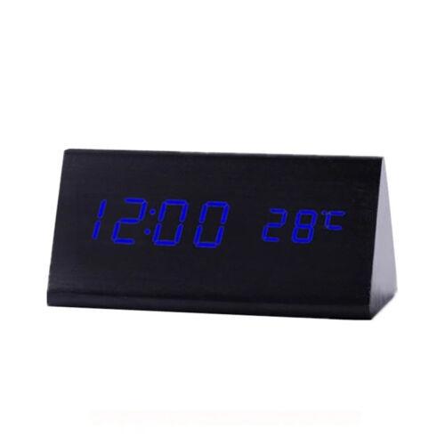 BCFEKK-SA020 Digitális fekete fa asztali óra
