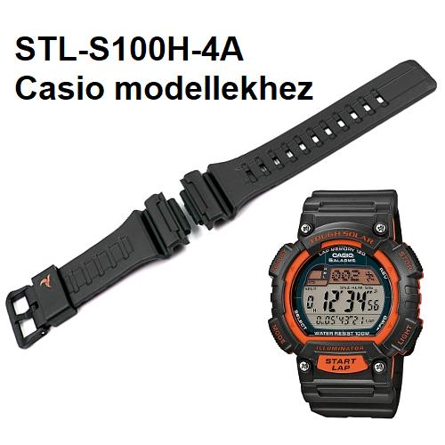 STL-S100H-4A Casio fekete műanyag szíj