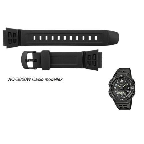 AQ-S800W Casio fekete műanyag szíj