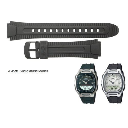 AW-81 Casio fekete műanyag szíj