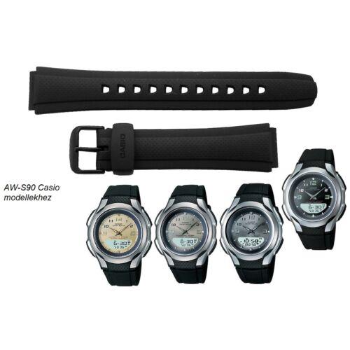 AW-S90-1 Casio fekete műanyag szíj