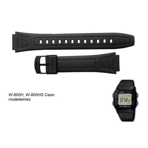 W-800 Casio fekete műanyag szíj