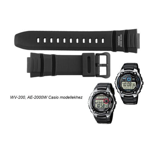 WV-200-1 AE-2000W-AE-2100W Casio fekete műanyag szíj